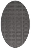 rug #208285 | oval brown rug