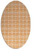 rug #208329 | oval orange traditional rug