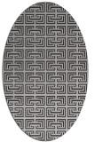 rug #208337 | oval red-orange traditional rug