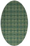 rug #208341 | oval yellow rug
