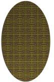 rug #208365 | oval green traditional rug