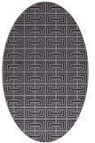 rug #208373   oval purple traditional rug