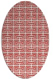 rug #208377 | oval red traditional rug
