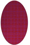 rug #208389 | oval red traditional rug