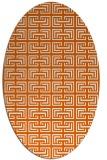 rug #208405 | oval red-orange traditional rug