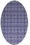 rug #208417 | oval white traditional rug