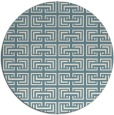 rug #208865 | round white traditional rug