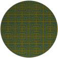 rug #208901 | round green rug