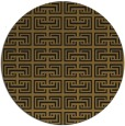 rug #208957 | round mid-brown popular rug