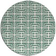 rug #208973 | round blue-green traditional rug