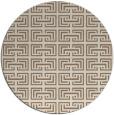 rug #208993   round beige traditional rug