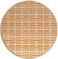rug #209033 | round orange traditional rug