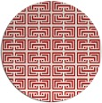 rug #209081 | round red traditional rug