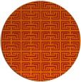 rug #209085 | round red traditional rug