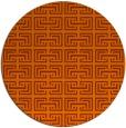 rug #209097   round red-orange traditional rug