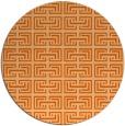 rug #209101 | round red-orange traditional rug
