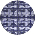 rug #209121 | round white traditional rug