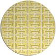 rug #209141 | round yellow popular rug