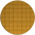 rug #209145 | round yellow traditional rug