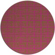 rug #209169 | round pink traditional rug