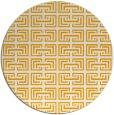 rug #209177 | round light-orange traditional rug