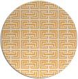 rug #209189 | round light-orange traditional rug