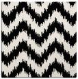 rug #209549   square black stripes rug
