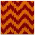 rug #209733   square orange stripes rug