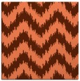 rug #209745 | square red-orange stripes rug