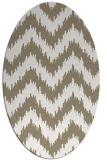 rug #209897 | oval white stripes rug