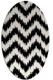 rug #209901 | oval white stripes rug