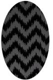 rug #209905 | oval black stripes rug