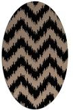 rug #209909   oval beige stripes rug
