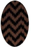 rug #209913   oval brown stripes rug