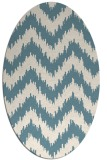rug #209921 | oval white stripes rug