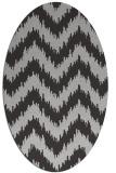 rug #209942 | oval stripes rug