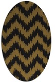 rug #210013 | oval mid-brown stripes rug