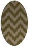 rug #210017 | oval brown stripes rug