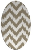 rug #210037 | oval white stripes rug