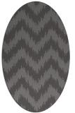 rug #210045 | oval brown stripes rug