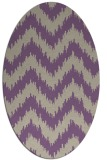 rug #210077 | oval beige stripes rug