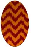 rug #210085 | oval stripes rug