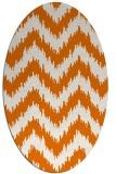 rug #210089 | oval orange popular rug