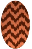 rug #210097 | oval red-orange stripes rug