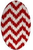 rug #210137 | oval red stripes rug