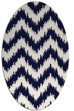 rug #210140 | oval stripes rug