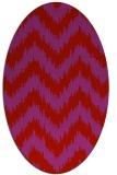 rug #210149 | oval red stripes rug