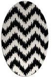 rug #210169 | oval white stripes rug