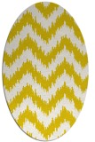 rug #210173 | oval white stripes rug