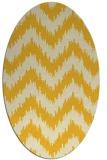rug #210185 | oval yellow rug